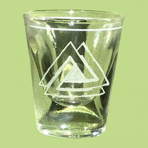 Valknut shot glass